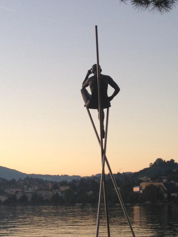 Man on 3 Poles